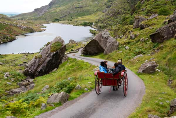 Jaunting Car in the Gap of Dunloe